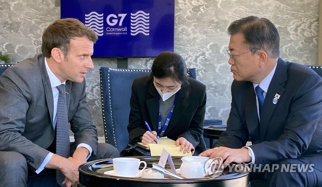 韩法领导人会晤