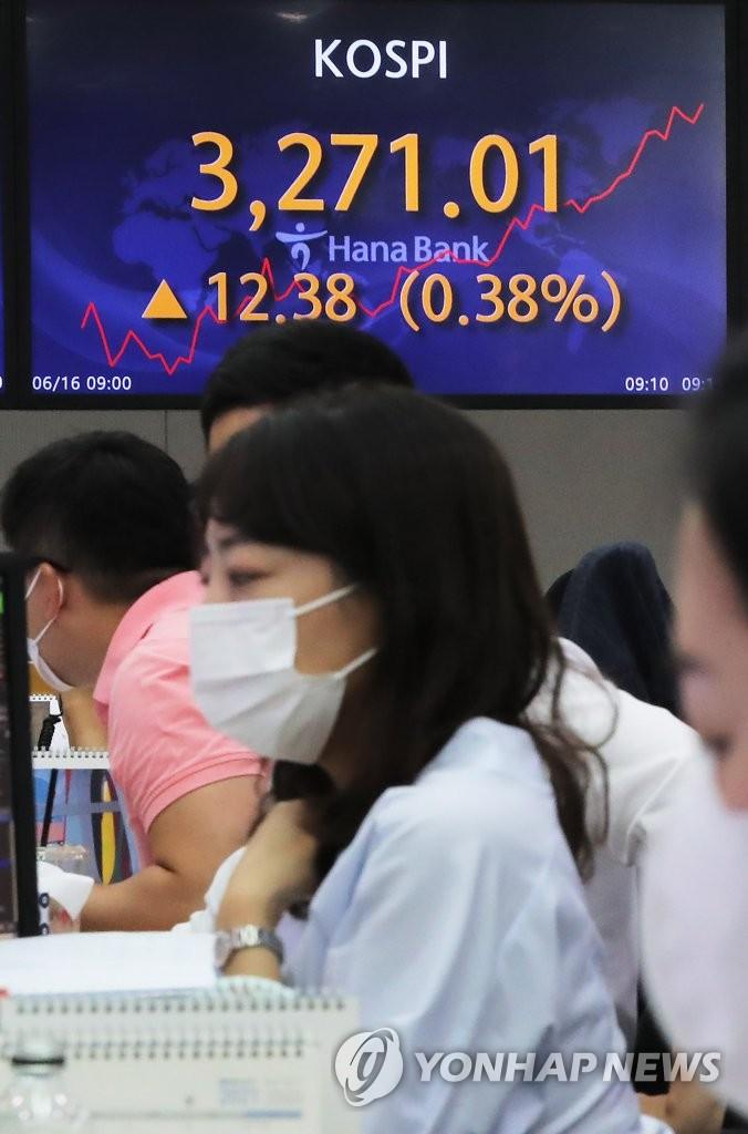 韩KOSPI指数盘中创新高