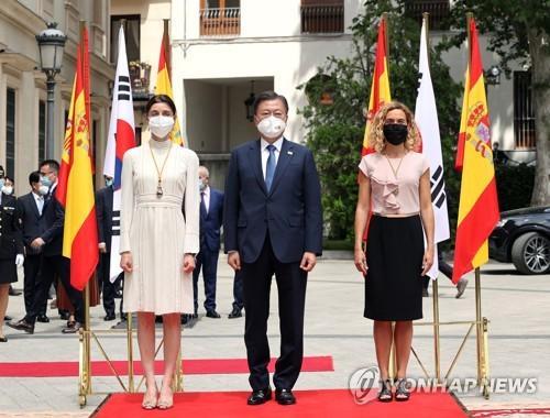 文在寅访问西班牙议会