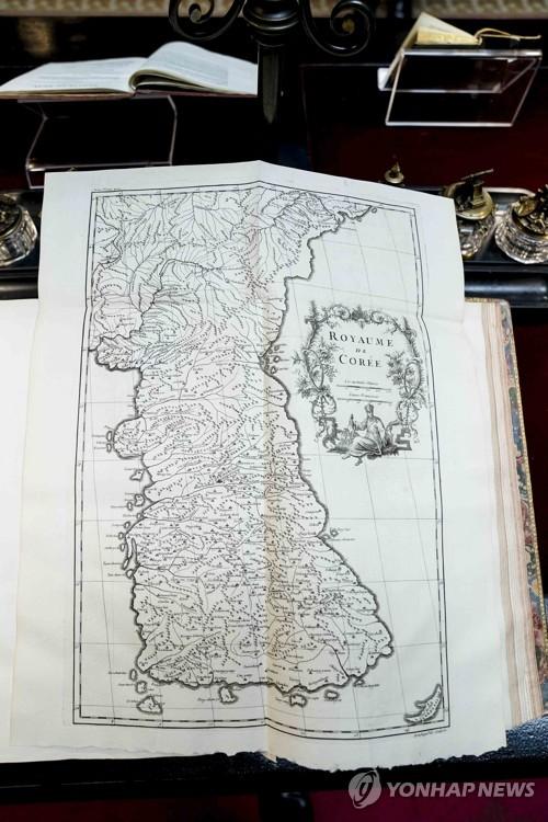 韩半岛古地图