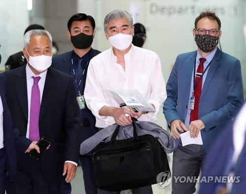 美对朝代表结束访韩行程回国