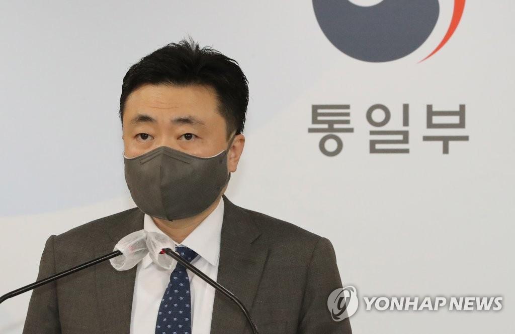 资料图片:韩国统一部副发言人车德哲(音) 韩联社