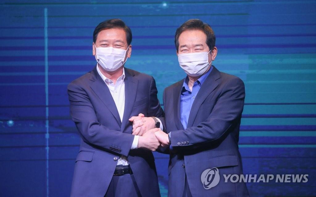 详讯:韩执政党两名总统人选合推单一候选人