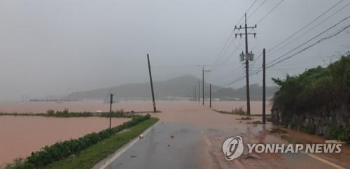 韩国南部地区遭遇暴雨致1人死亡