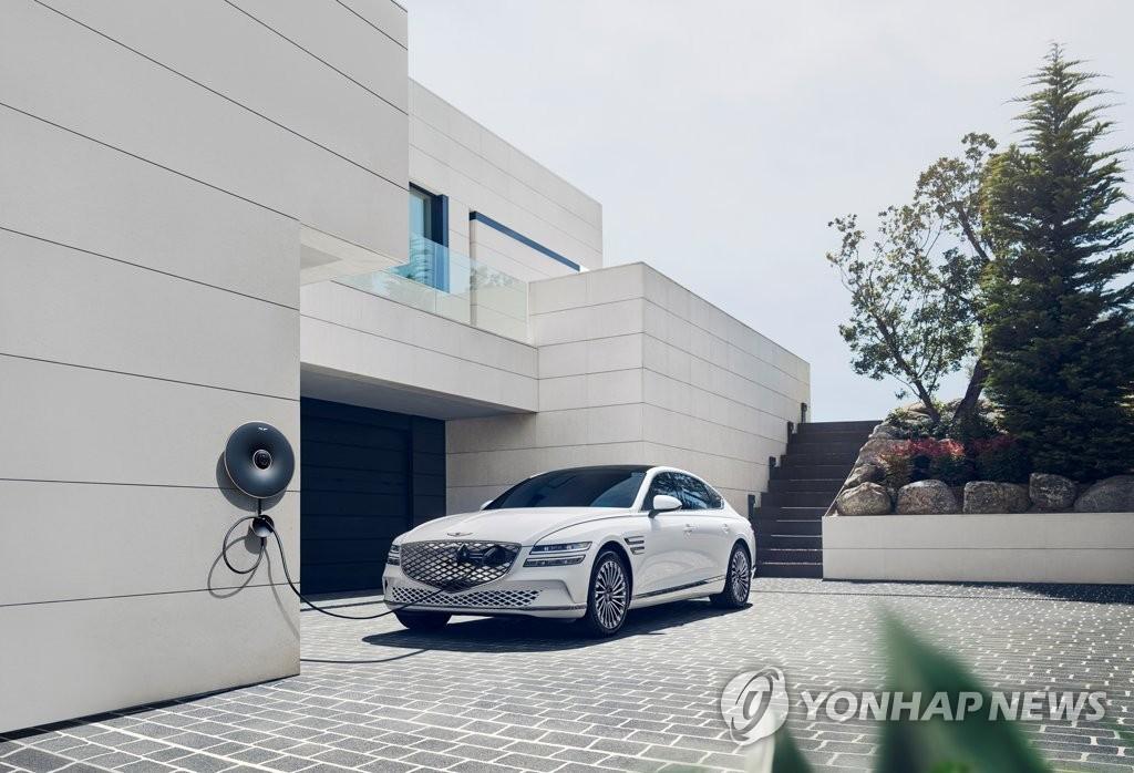 捷尼赛思首款纯电车型G80 韩联社/捷尼赛思供图(图片严禁转载复制)