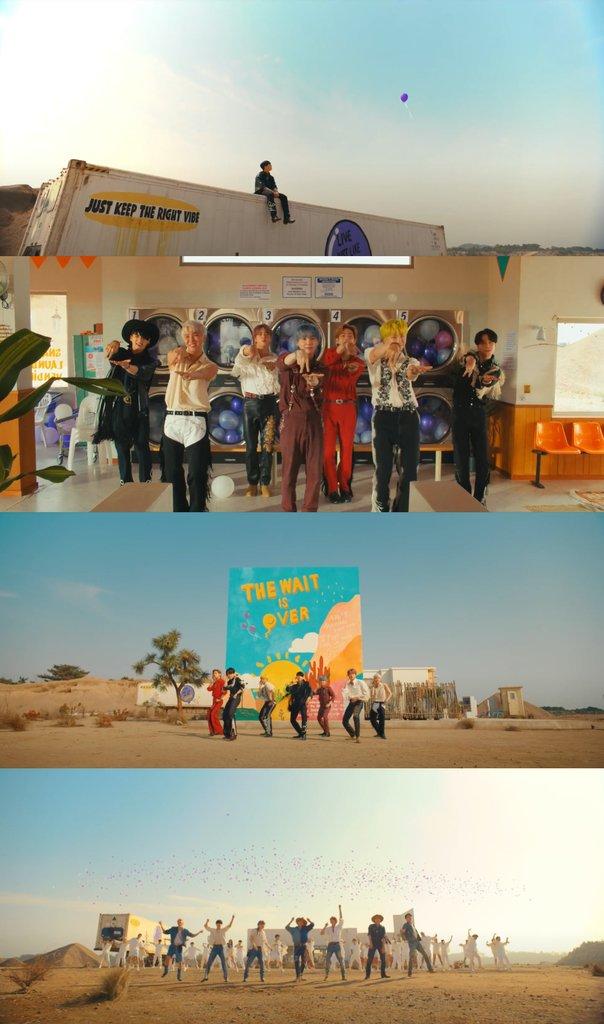 资料图片:防弹少年团新歌《Permission to Dance》MV BIGHIT MUSIC供图(图片严禁转载复制)
