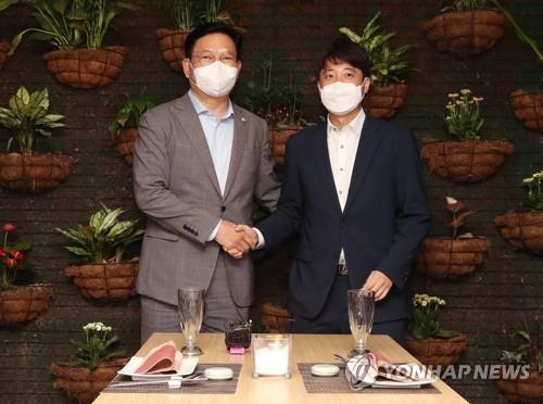 韩朝野党首就向全民发放灾难补助达成一致