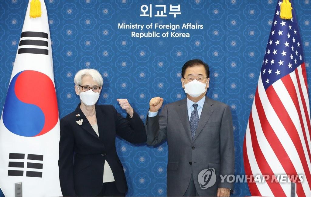 韩外长会见美副国务卿