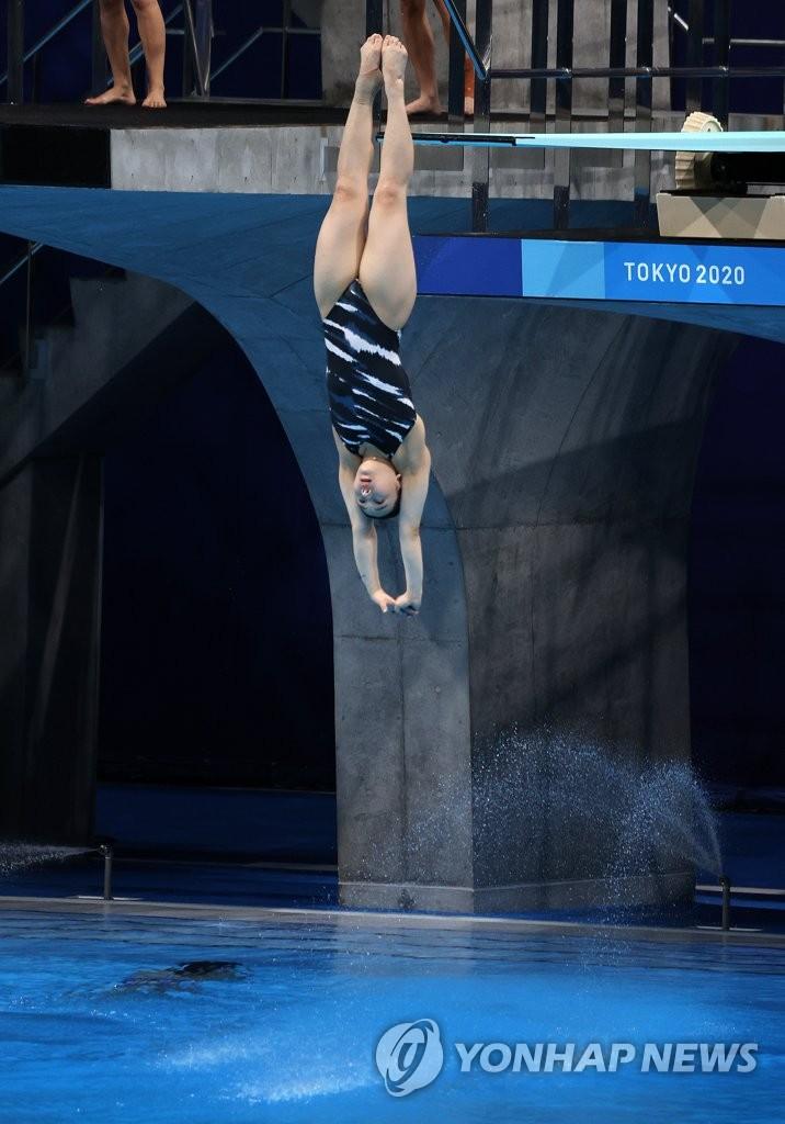 韩国小将金守志挺进东奥女子单人3米板半决赛