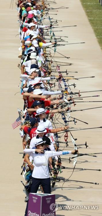 奥运女子射箭排名赛