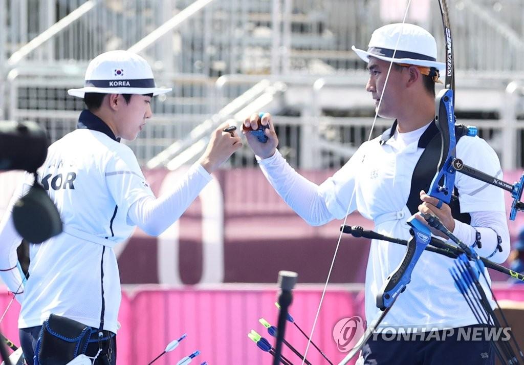 简讯:韩射箭队锁定东京奥运混合团体银牌