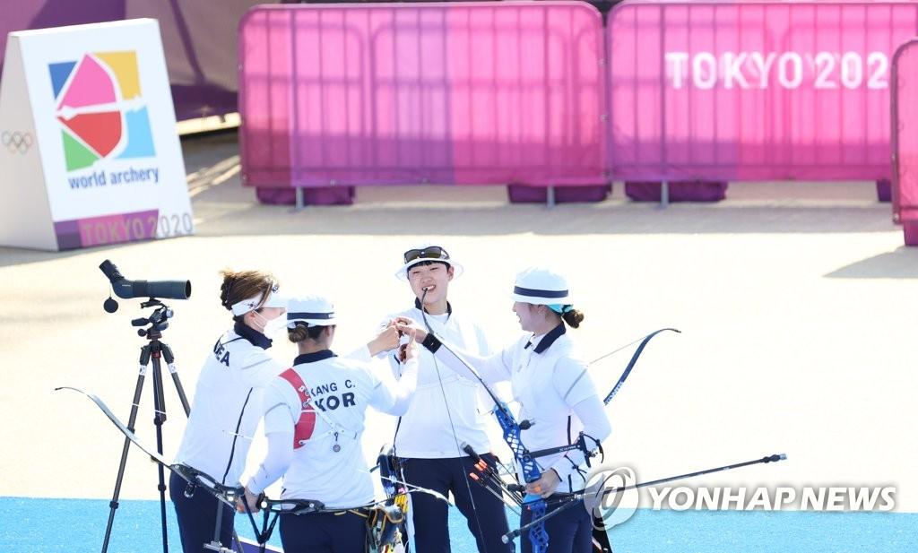 简讯:韩国队摘得东京奥运女子射箭团体赛金牌