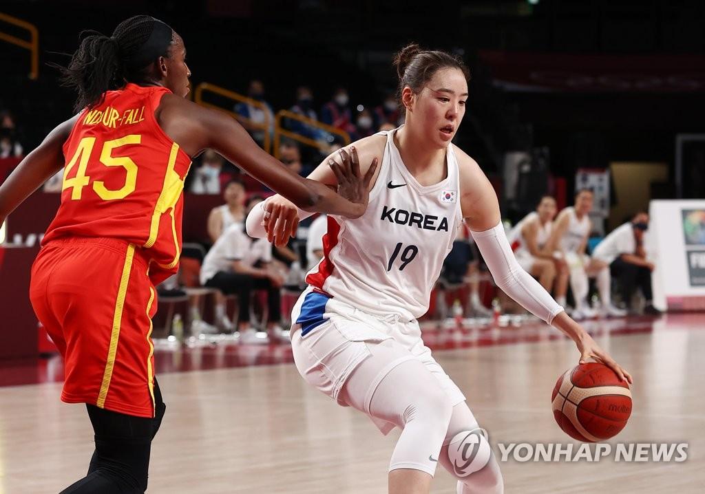 韩女篮中锋朴智修东奥小组赛篮板盖帽排第一