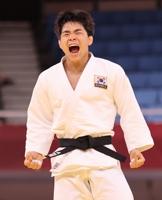 韩国选手安昌林夺得男子柔道73公斤级铜牌