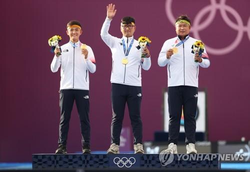 【东京奥运】韩国队26日综合:射箭男团摘金 柔道安昌林夺铜