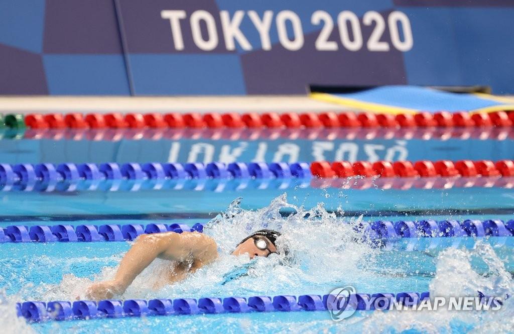 黄宣优100米自由泳破韩国纪录晋级半决赛