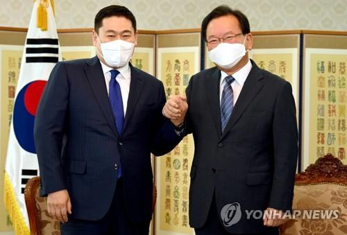 韩蒙总理会晤