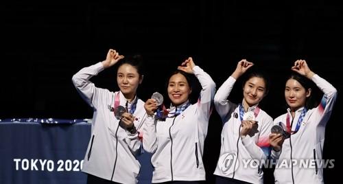 东京奥运韩国27日综合:重剑女团摘银 跆拳道收获一银一铜