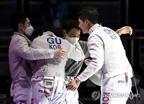 韩男子佩剑队晋级决赛
