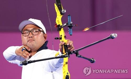 金优镇和姜彩荣挺进东奥男女射箭个人十六强