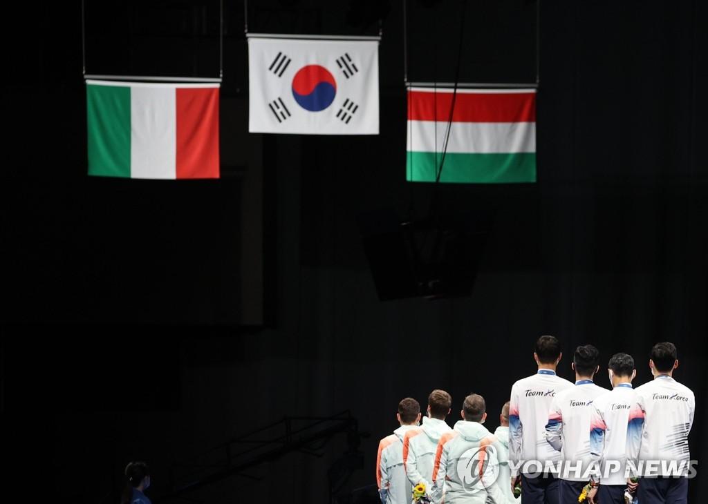 东京奥运韩国28日综合:佩剑男团摘金 男足挺进八强