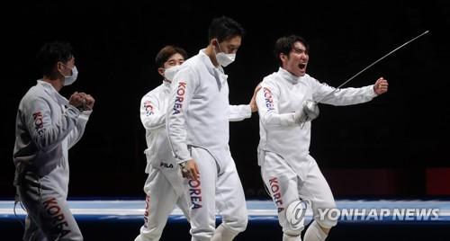 韩重剑男队冲击奖牌