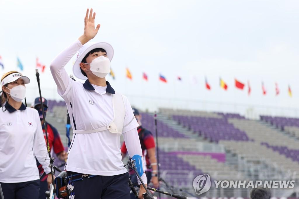 韩选手安山在东奥射箭女子个人赛保银争金