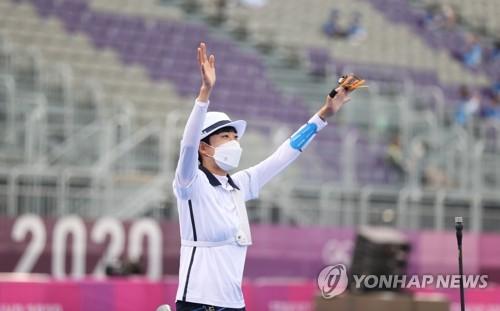 详讯:韩选手安山东奥女子射箭摘金荣膺三冠王