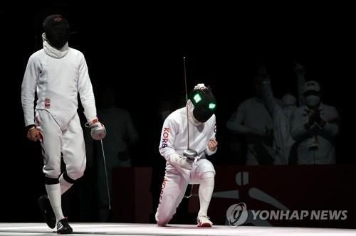 东京奥运韩国重剑男团战胜中国夺铜