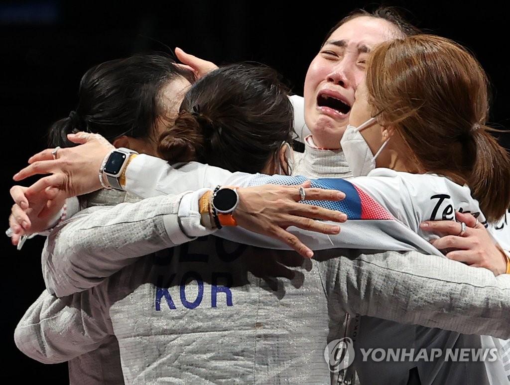 韩国女子佩剑团体东京奥运摘铜书写历史