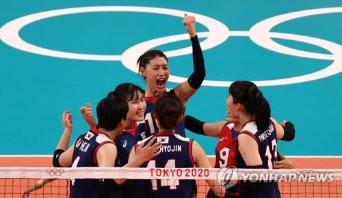 韩国女排战胜日本队确定东奥小组出线