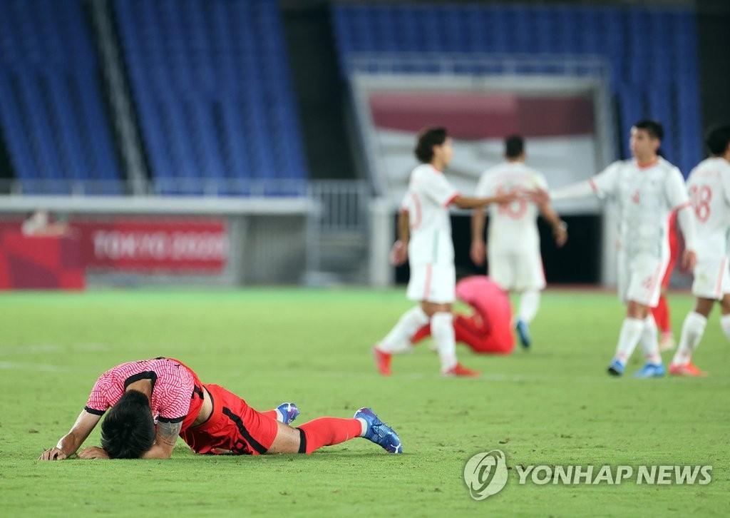 7月31日晚,东京奥运会男足八强赛全面开打,韩国队不敌墨西哥队,以3比6无缘4强。 韩联社
