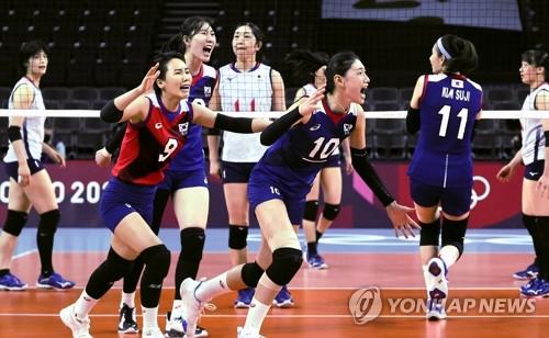 韩国女排晋级东奥八强