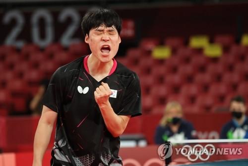 韩国男乒战胜斯洛文尼亚挺进东奥团体八强