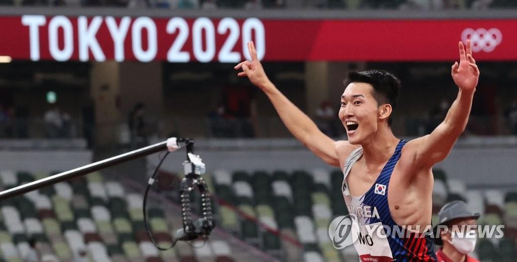 韩选手禹相赫刷新男子跳高韩国纪录
