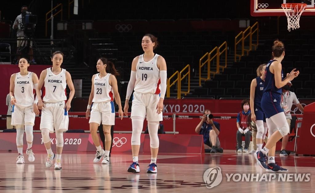 韩国女篮惜败塞尔维亚