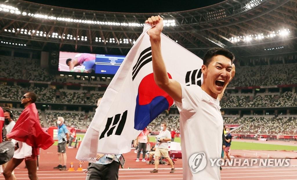 禹相赫刷新韩国跳高纪录
