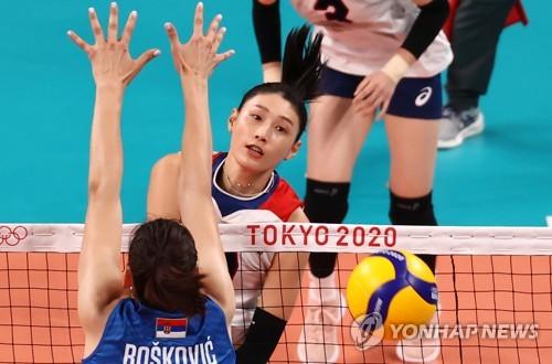 韩国女排以小组第三晋级东奥八强