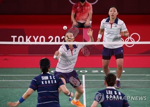 韩羽毛球队会师铜牌争夺赛