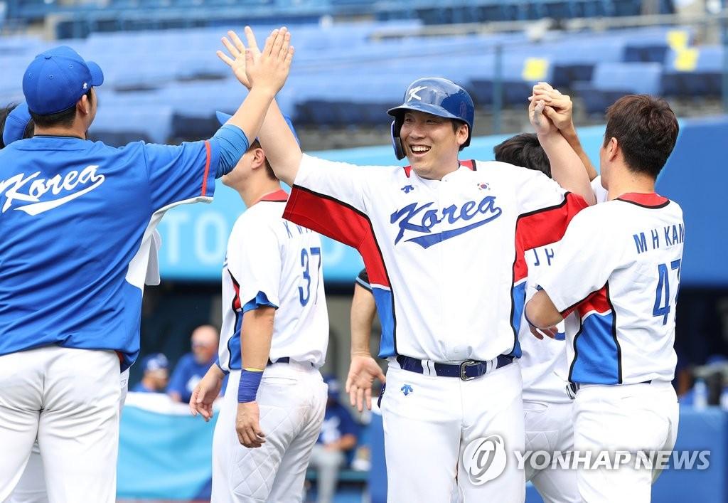 韩国棒球队挺进东奥半决赛
