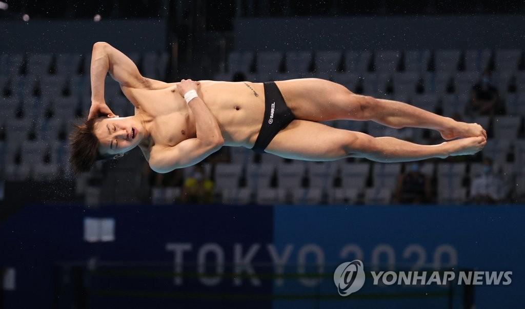 8月3日,在东京奥运男子3米跳板决赛中,禹河蓝以481.85分名列第4。 韩联社