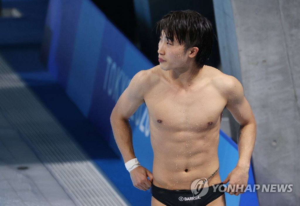 8月3日,在东京奥运会跳水男子单人3米跳板决赛中,韩国选手禹河蓝获得第四名。 韩联社