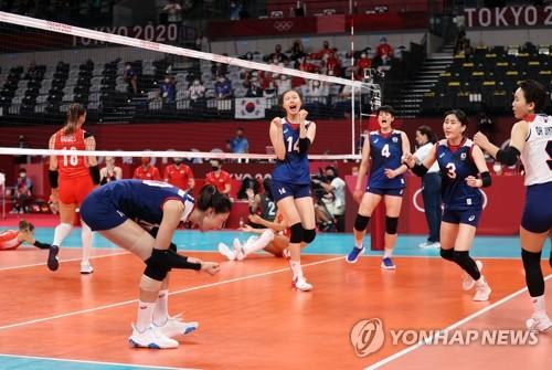 韩国女排战胜土耳其挺进东奥半决赛