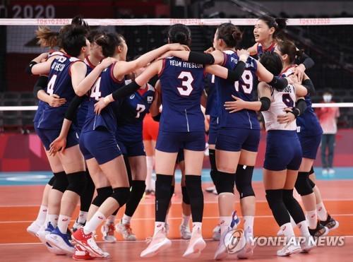 韩国女排晋级四强