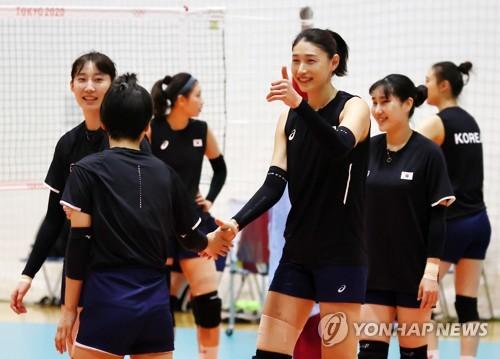 韩国女排备战