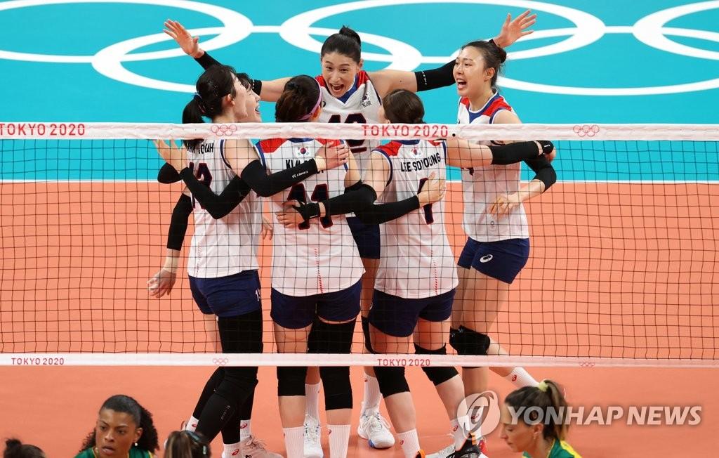 韩国女排不敌巴西无缘东奥决赛