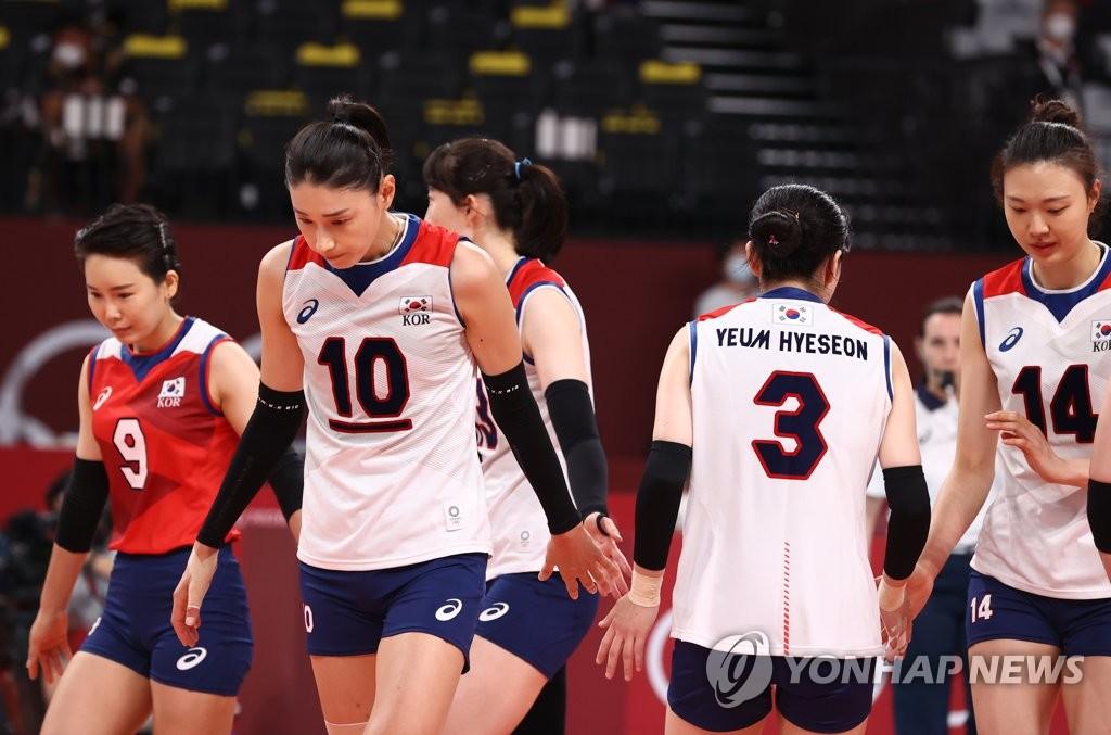 韩国女排不敌塞尔维亚无缘奥运奖牌