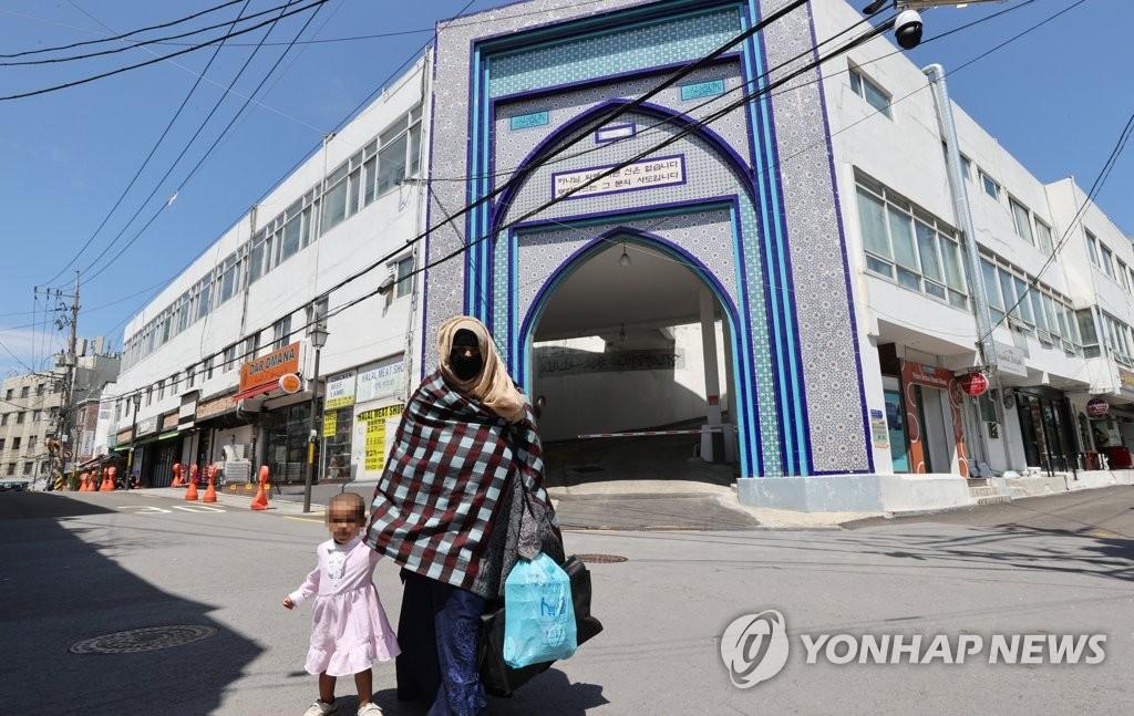 资料图片:位于首尔市龙山区的伊斯兰教中央圣院 韩联社