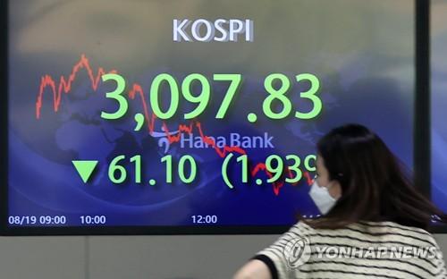 详讯:韩国综股指收盘大跌1.93%创4月来最低
