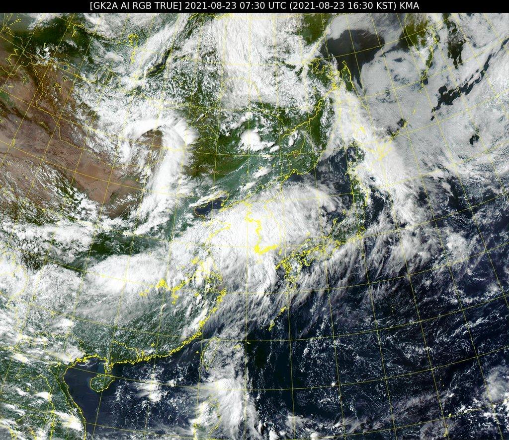 """台风""""奥麦斯""""抵达济州凌晨趋向南海岸"""